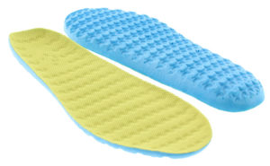 yellow blue insole